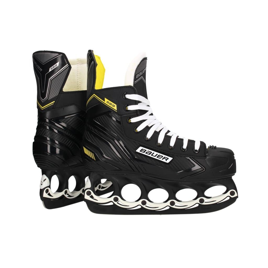 Bauer Eishockeyschlittschuhe S23 Black-White mit t-blade Kufensystem