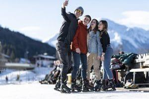 Eislauf und Freizeit